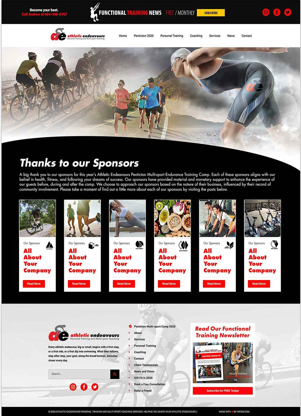 Your company will be included on our sponsor page on the AE website